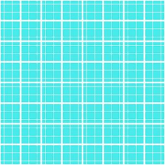 Naadloze achtergrond van geruit tartanpatroon in blauwe kleur met witte geometrische lijnen