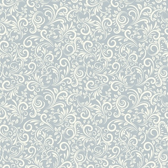 Naadloze achtergrond van lichtblauwe kleur in damascus-stijl