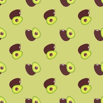 Naadloze achtergrondafbeelding kleurrijke tropische vruchten avocado