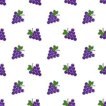Naadloze achtergrondafbeelding kleurrijke tropische vruchten paarse druif