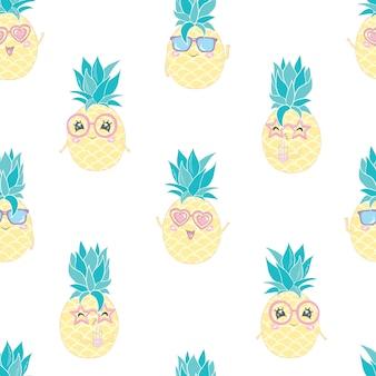 Naadloze ananas patroon illustratie