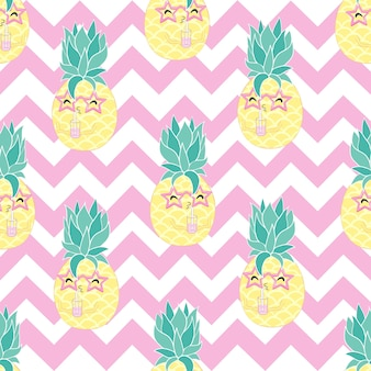 Naadloze ananas patroon