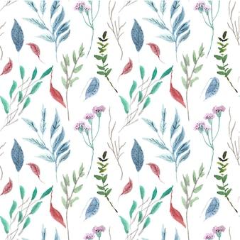 Naadloze aquarel patroon blad