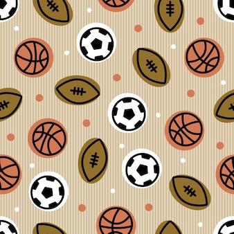 Naadloze bal van sport patroon achtergrond