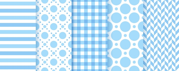Naadloze blauwe patronen texturen baby jongen pastel achtergronden schattige prints