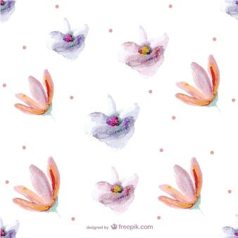 Naadloze bloem schilderij patroon