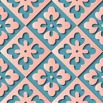 Naadloze bloemendecoratie retro patroon