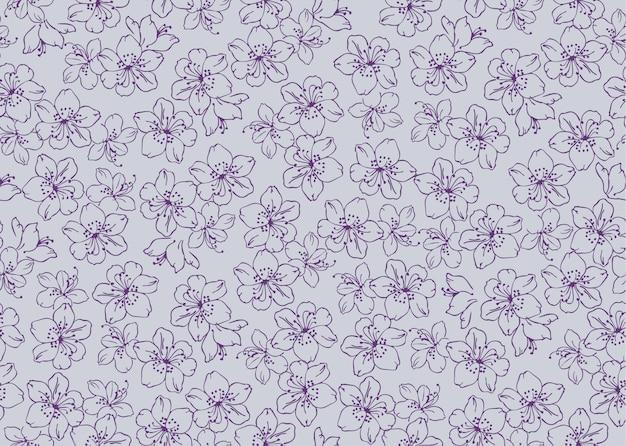 Naadloze bloemenpatronen met bloem in vector.