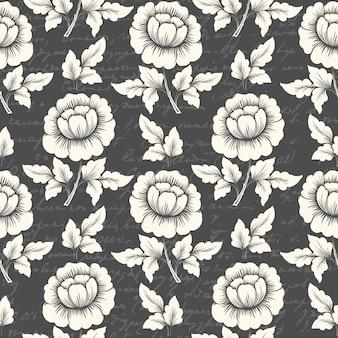 Naadloze bloemenpatroon