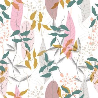 Naadloze bloemenpatroonachtergrond