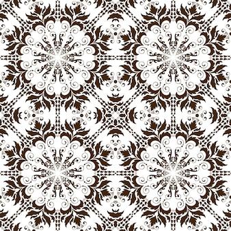 Naadloze bloemmotief achtergrond in arabische stijl