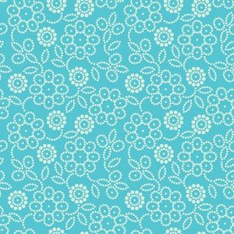 Naadloze bloemmotief in blauw