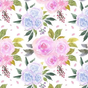 Naadloze bloemmotief met kleurrijke rozen