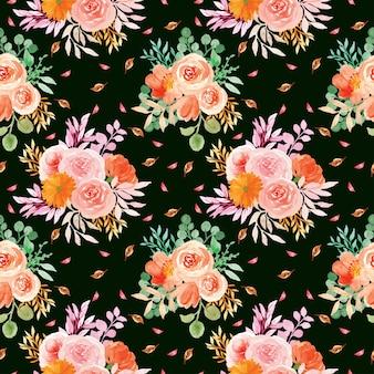 Naadloze bloemmotief met romantische bloemen