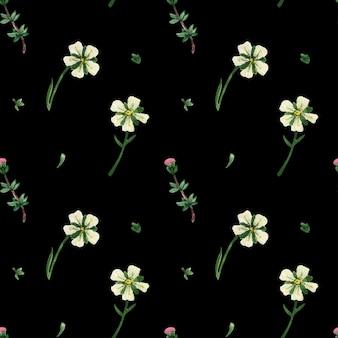 Naadloze bloemmotief met wilde planten