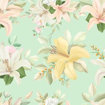 Naadloze bloemmotief met zachte kleur