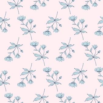 Naadloze bloemmotief mooie botanische textuur met takken bladeren en bloemen om af te drukken