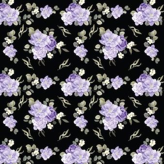 Naadloze bloemmotief rozen en wilde bloemen