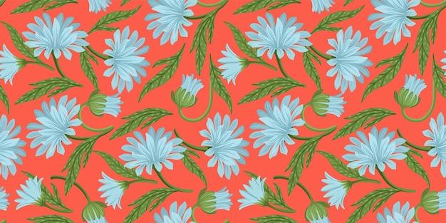 Naadloze bloemmotief. vectorontwerp voor papier, omslag, stof, interieur en andere gebruikers