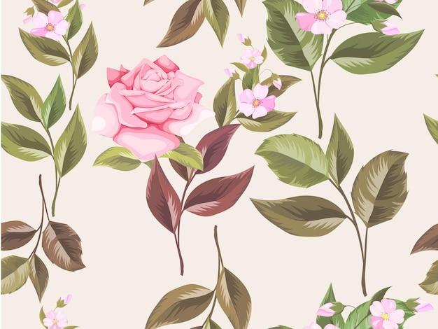 Naadloze bloemmotief voor modevormgeving en behang