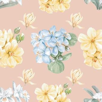 Naadloze bloemmotief