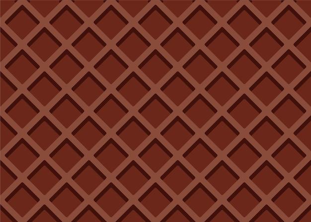 Naadloze bruine wafeltextuur of patroon Premium Vector