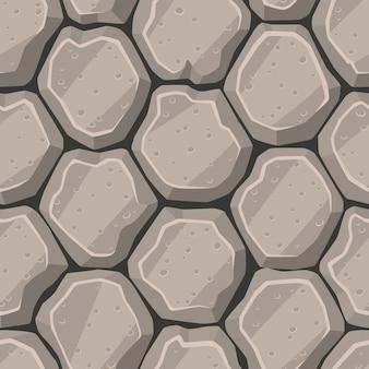 Naadloze cartoon steen textuur vector illustratie