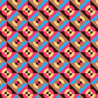 Naadloze circulaire geometrische groovy patroon textuur