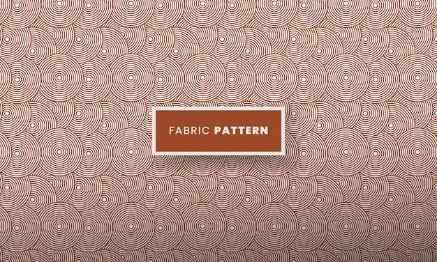 Naadloze cirkel stof lijnpatroon mode textiel patroon met cirkel textuur