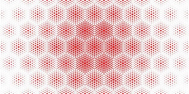 Naadloze cirkelvormige halftoonpatroonachtergrond