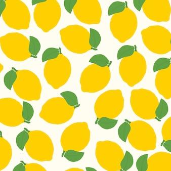 Naadloze citroen water kleur patroon achtergrond. vector illustratie. abstracte achtergrond.