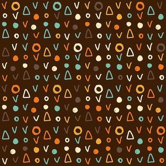 Naadloze doodle stof patroon achtergrond voor ontwerp