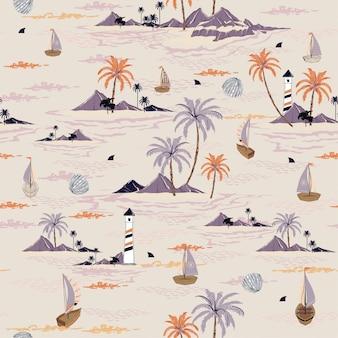 Naadloze eiland patroon vector