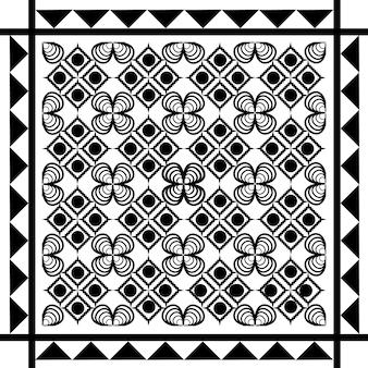 Naadloze etnische patroon zwart-wit vectorillustratie