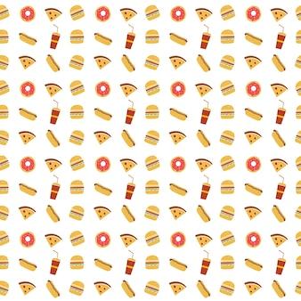 Naadloze fastfood restaurant thema patroon