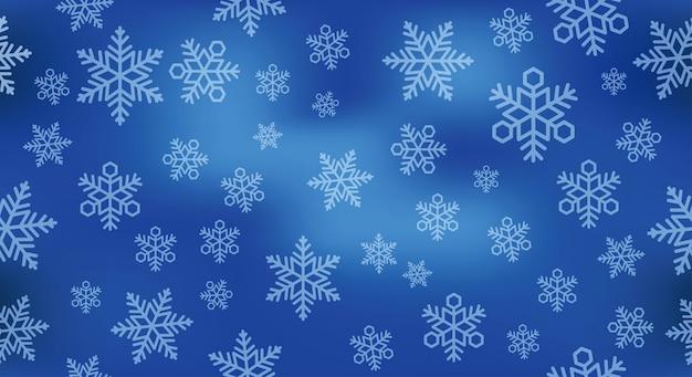 Naadloze feestelijke sneeuwillustratie als achtergrond.