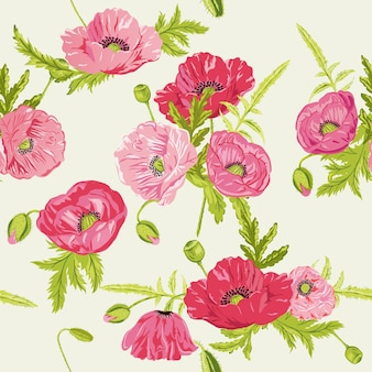 Naadloze floral shabby chic achtergrond