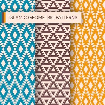 Naadloze geometrische achtergronden patronen-collectie