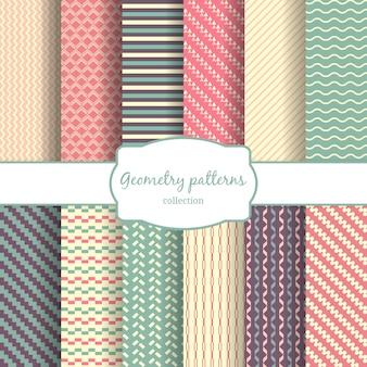 Naadloze geometrische, diagonale lijnen en ruit en kleur patroon achtergrond