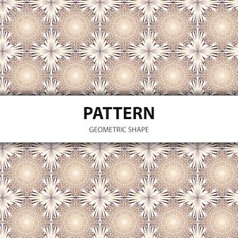 Naadloze geometrische mandala patroon