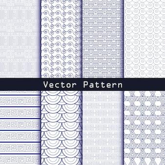 Naadloze geometrische minimalistische patronen