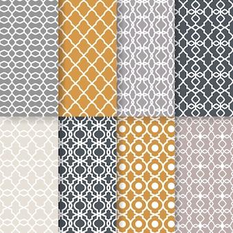 Naadloze geometrische patronen. elegant printontwerp voor tapijten. transparante achtergrond