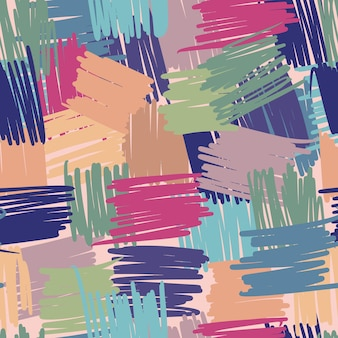Naadloze geometrische patroon van chaotische lijnen. abstracte bonte achtergronden uit de vrije hand voor textiel of boekomslagen, behang, design, grafische kunst, inpakwerk