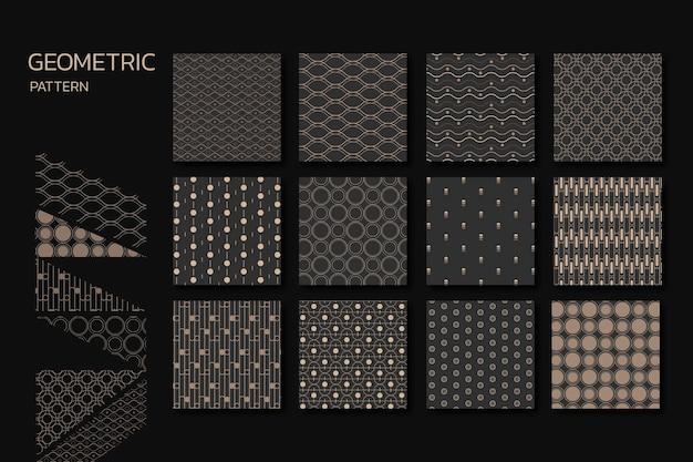 Naadloze geometrische patroon vector set