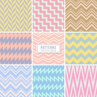 Naadloze geometrische patrooncollectie