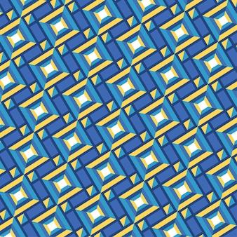 Naadloze geometrische vormen groovy patroon textuur