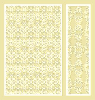 Naadloze gestanst decoratief patroon sjabloon