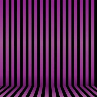 Naadloze gestreepte halloween-achtergrond in paars en zwart. vector