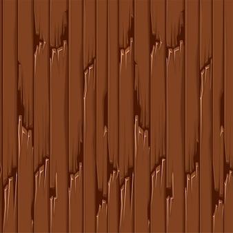 Naadloze getextureerde oude houten vloer, bruine behangpanelen voor ui-spel