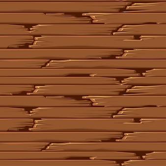 Naadloze getextureerde oude houten vloer, bruine behangpanelen.